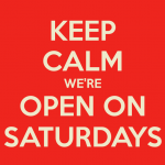 We're Open This Saturday!